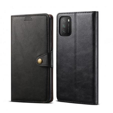 Lenuo Leather flipové pouzdro pro Poco M3, black