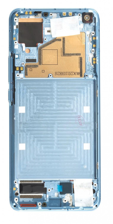 LCD + dotyk + přední kryt pro Xiaomi Mi 11, blue (Service Pack)
