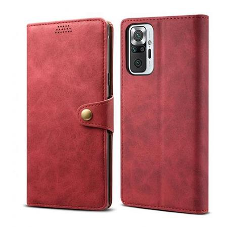 Lenuo Leather flipové pouzdro pro Apple iPhone 12 Mini, red