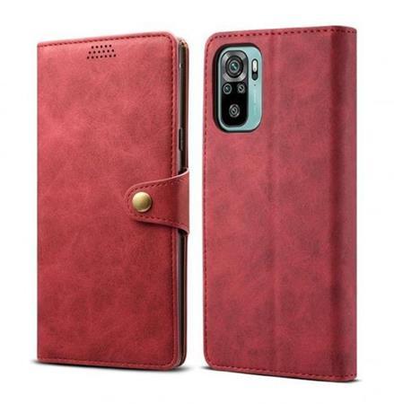 Lenuo Leather flipové pouzdro pro Xiaomi Mi Note 10, red