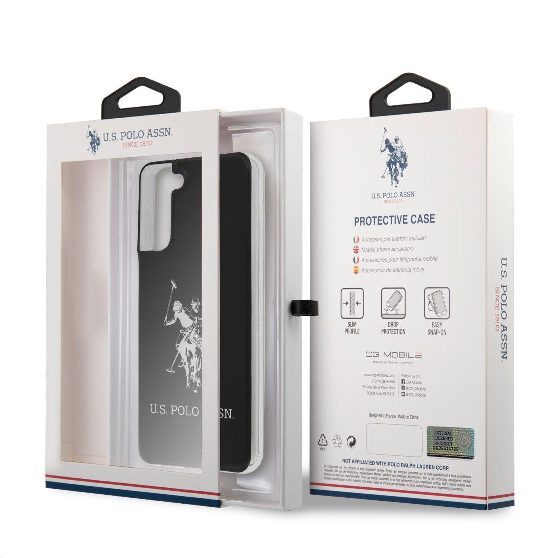 USHCS21MTPUHRBK U.S. Polo PC/TPU Big Horse Kryt pro Samsung Galaxy S21+ Black